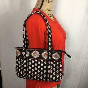 Vera Bradley Tote Classic Black Pattern